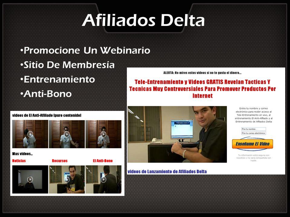 Promocione Un Webinario Sitio De Membresía Entrenamiento Anti-Bono