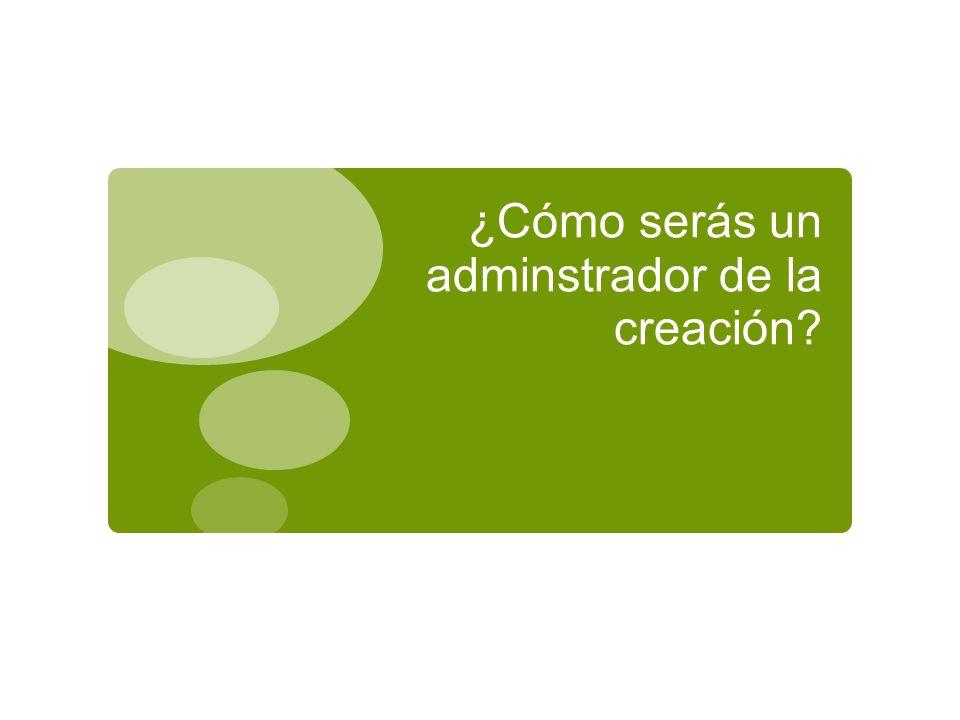 ¿Cómo serás un adminstrador de la creación