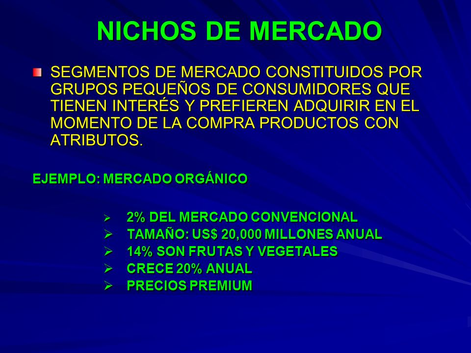 NICHOS DE MERCADO