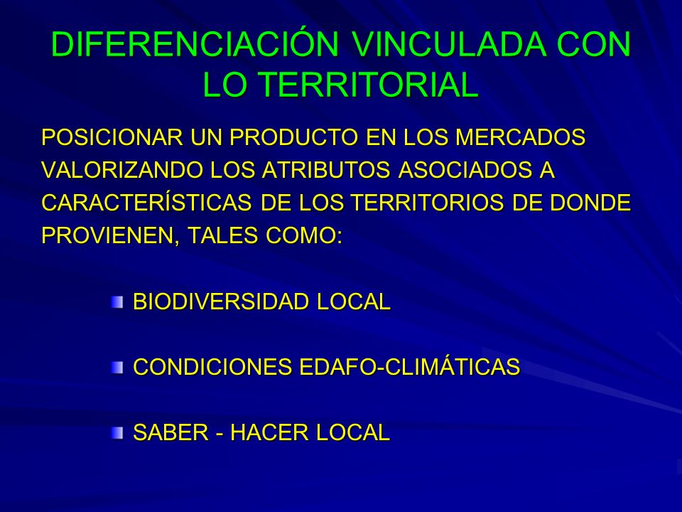 DIFERENCIACIÓN VINCULADA CON LO TERRITORIAL