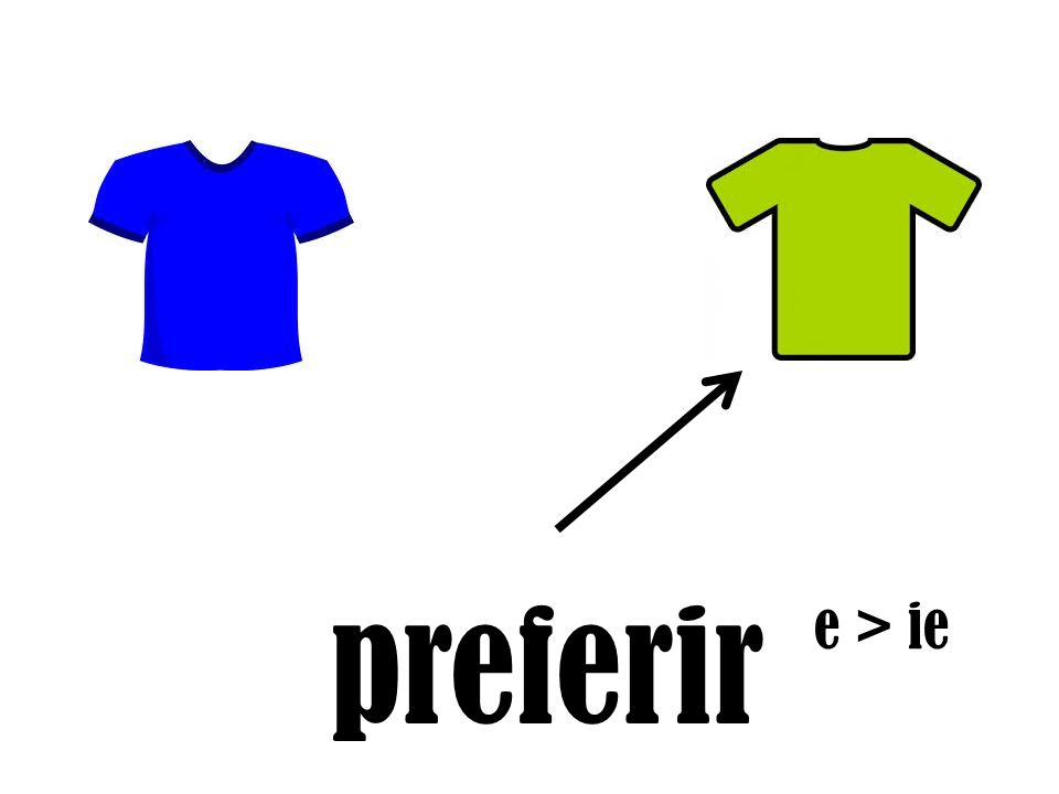 preferir e > ie
