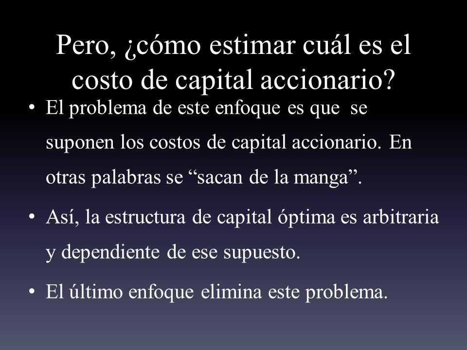 Pero, ¿cómo estimar cuál es el costo de capital accionario