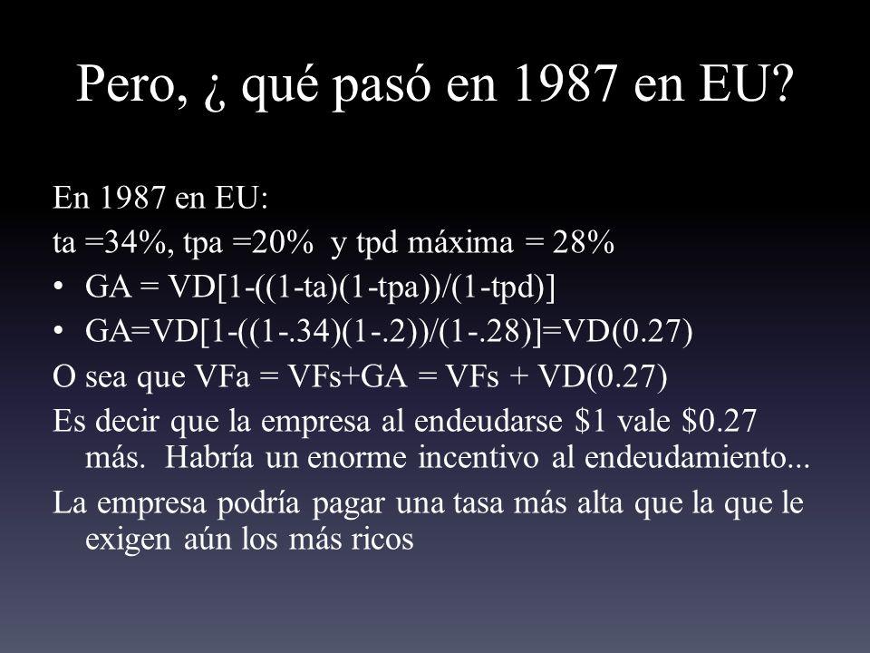 Pero, ¿ qué pasó en 1987 en EU En 1987 en EU: