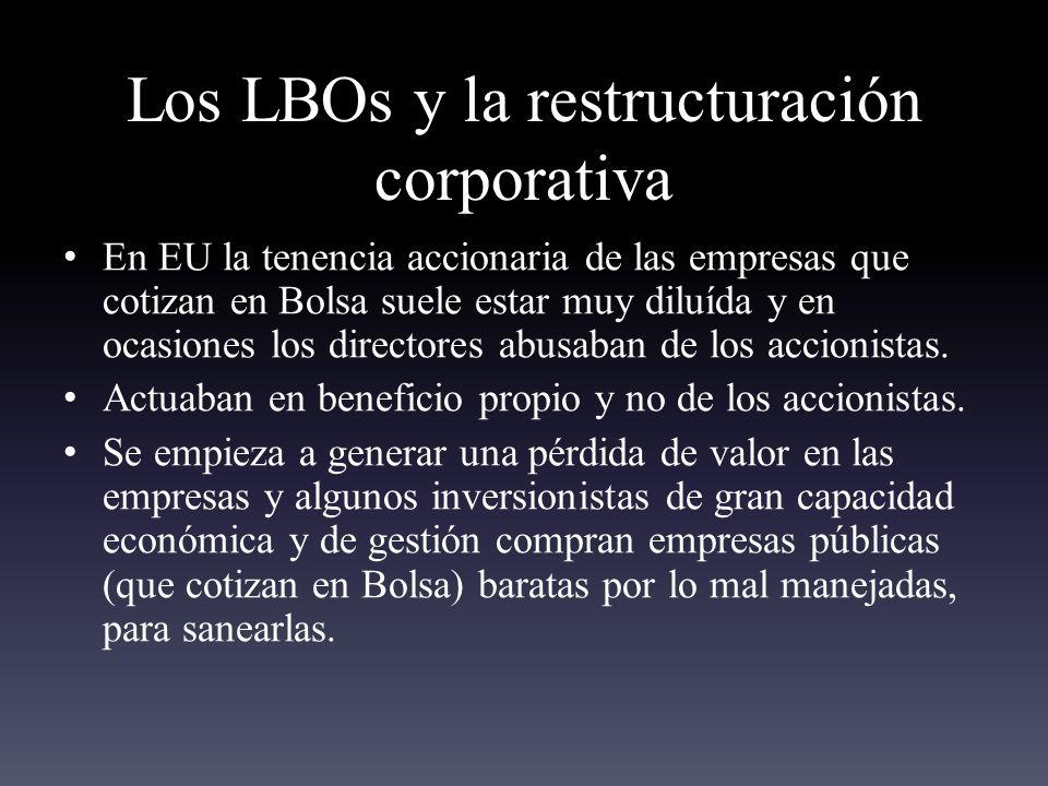 Los LBOs y la restructuración corporativa