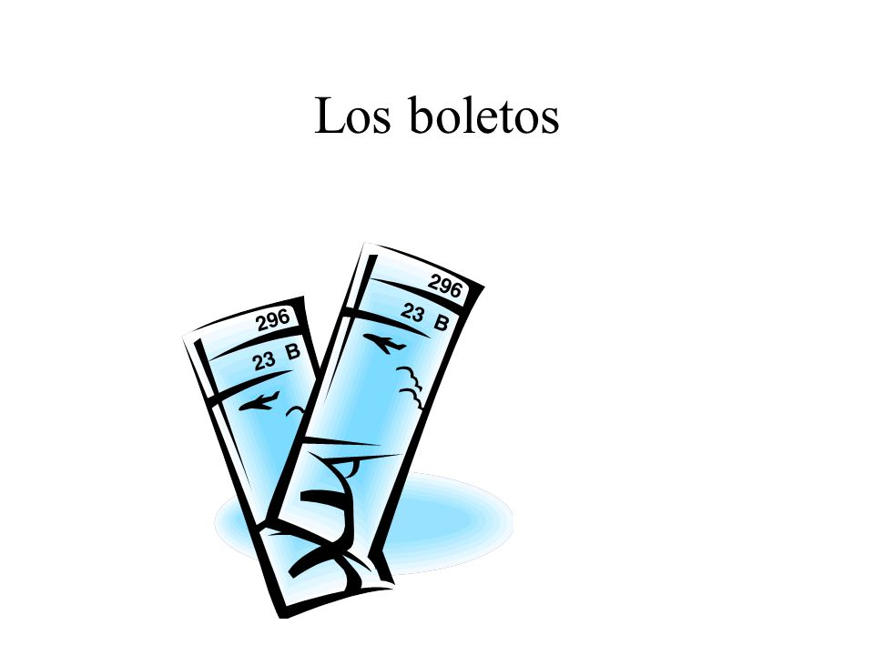 Los boletos