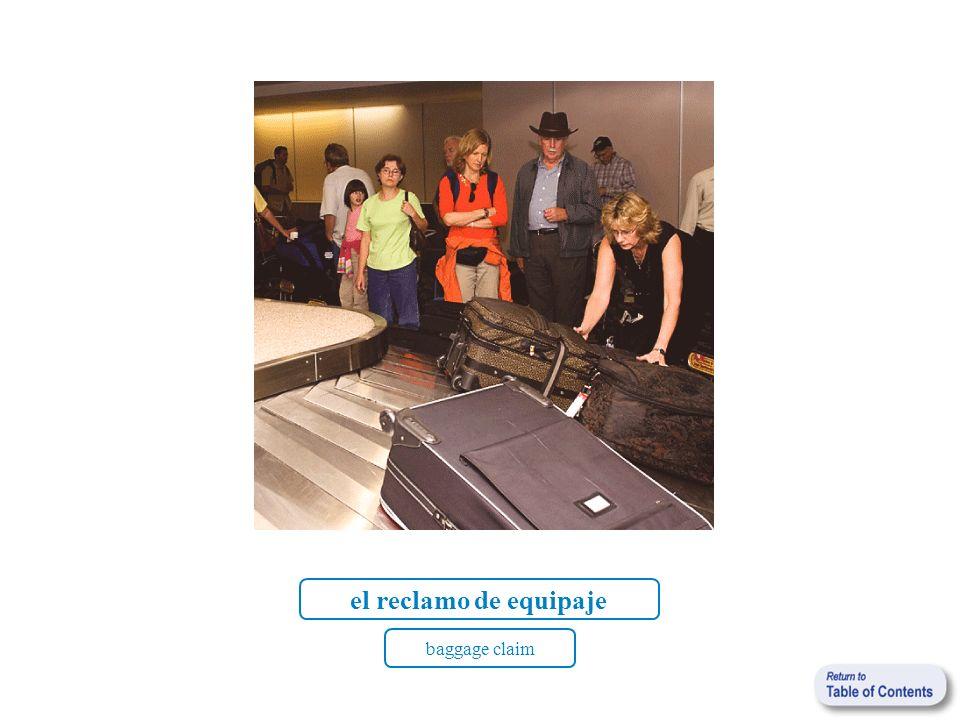 el reclamo de equipaje baggage claim