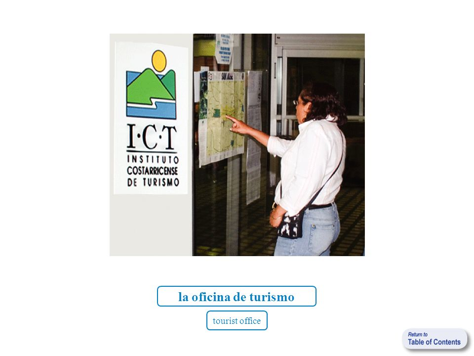 la oficina de turismo tourist office