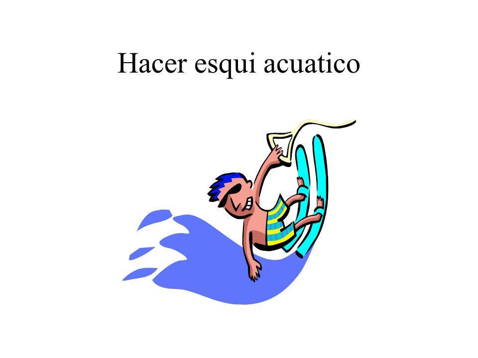 Hacer esqui acuatico