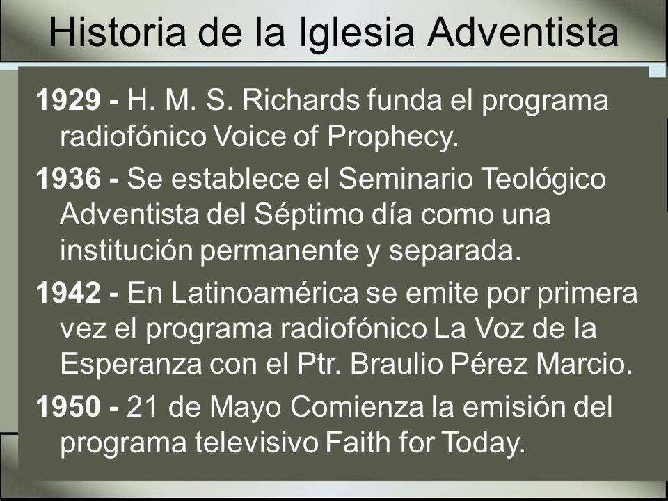 Historia de la Iglesia Adventista