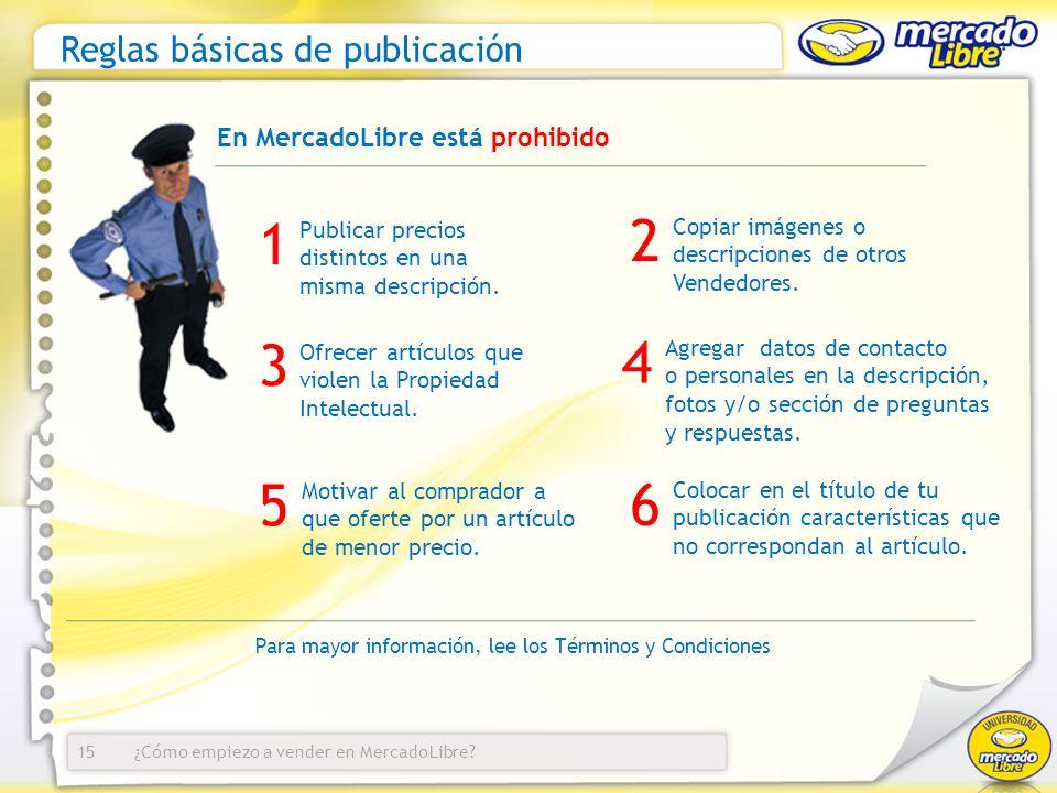 Reglas básicas de publicación