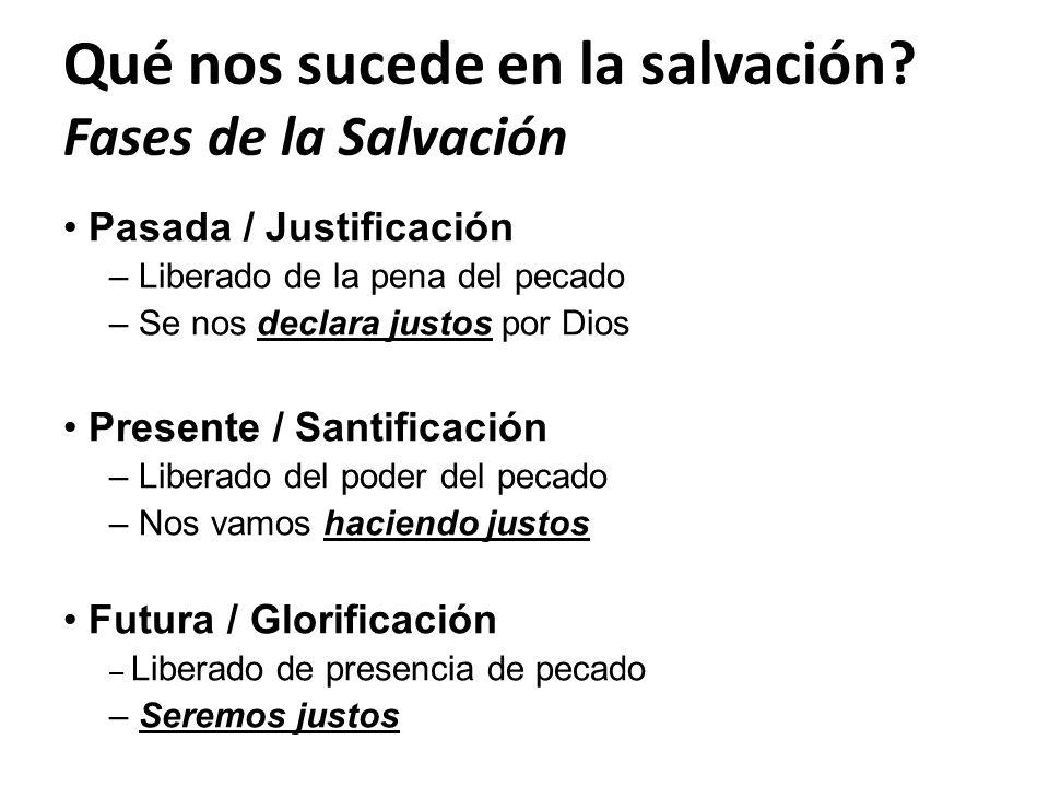 Qué nos sucede en la salvación Fases de la Salvación