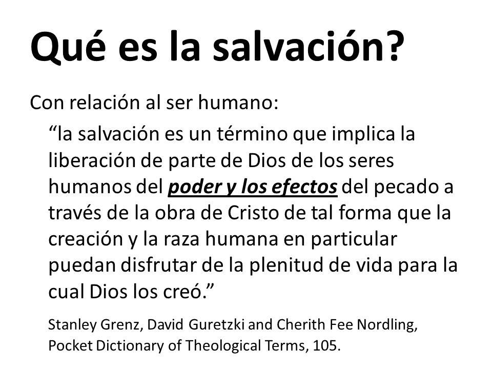 Qué es la salvación