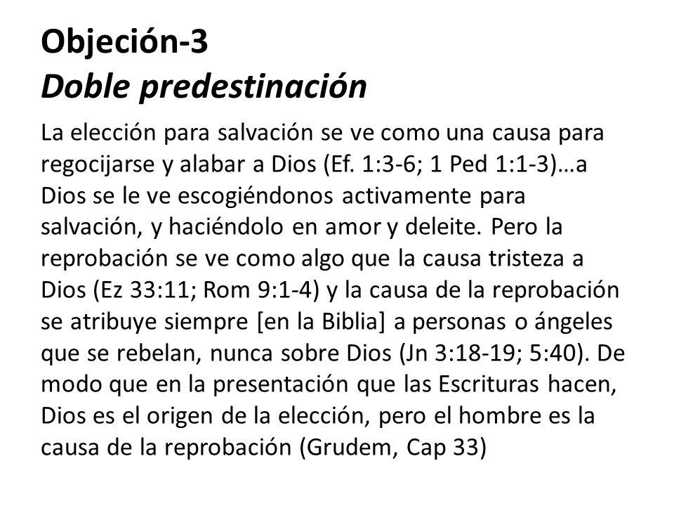 Objeción-3 Doble predestinación
