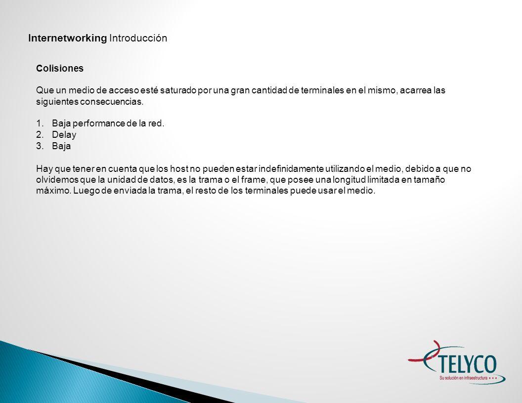 Internetworking Introducción
