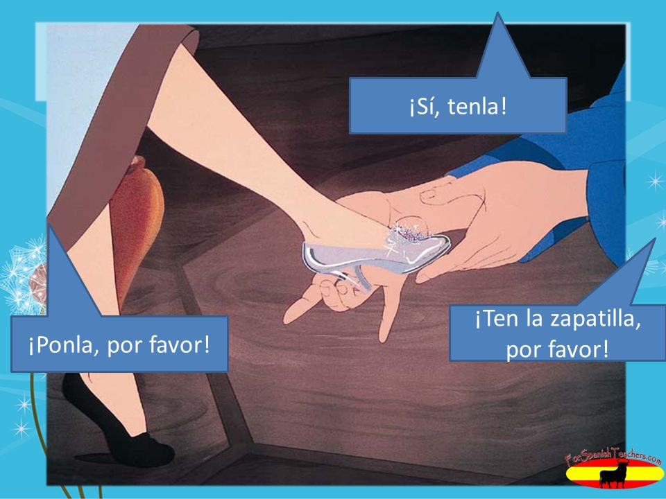 ¡Ten la zapatilla, por favor!