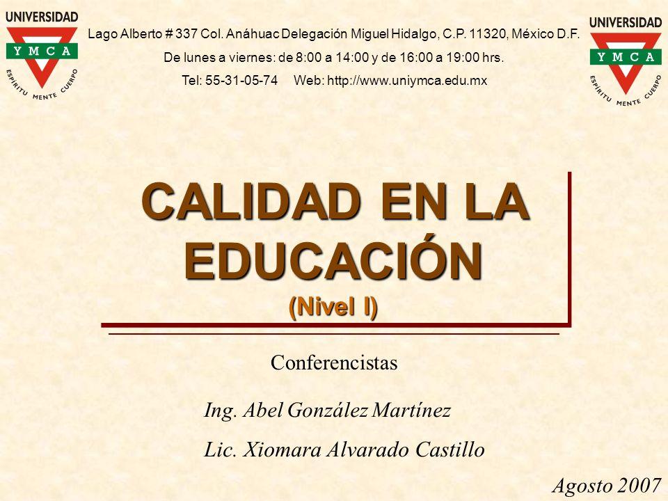 CALIDAD EN LA EDUCACIÓN
