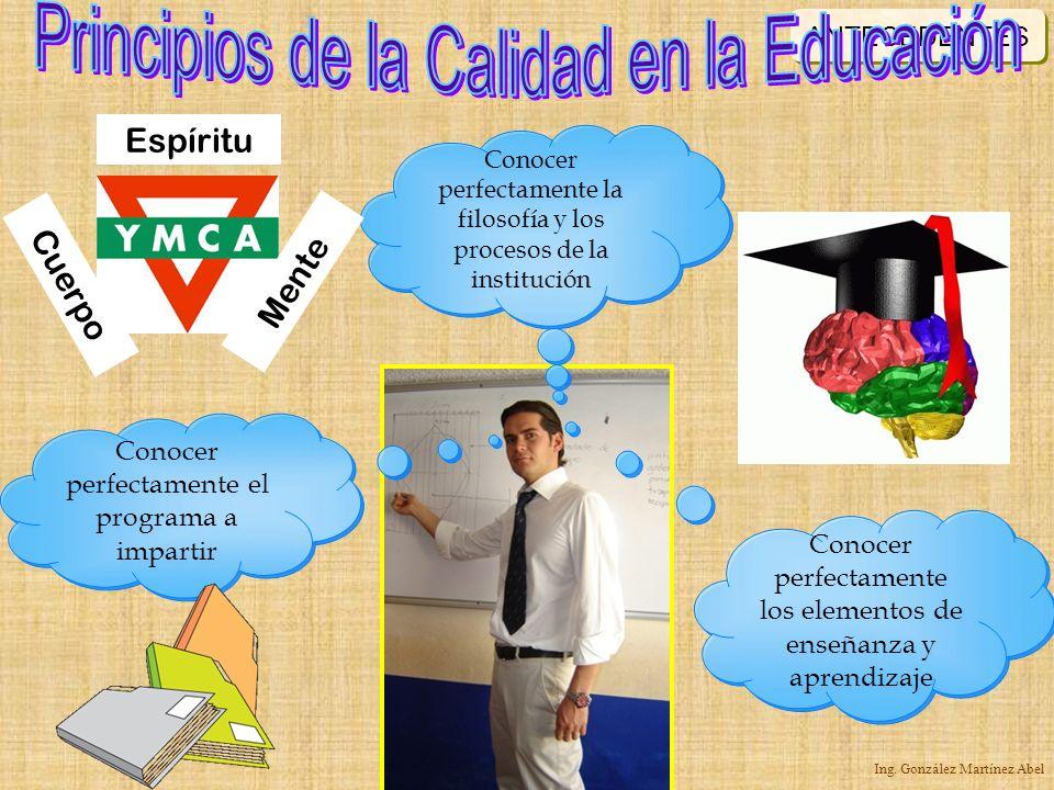 Principios de la Calidad en la Educación