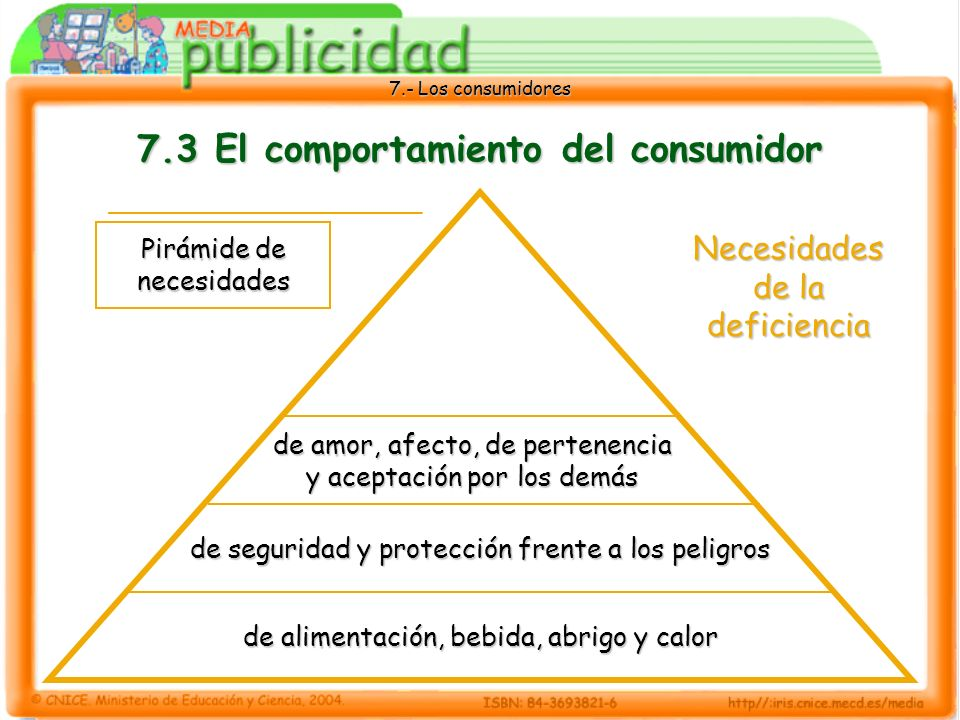 7.3 El comportamiento del consumidor