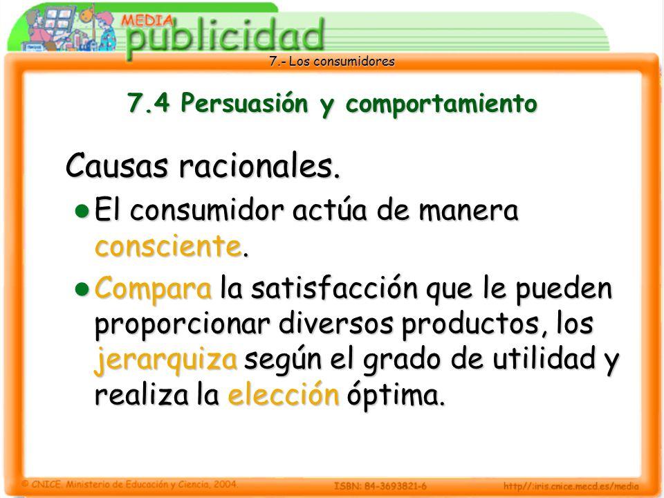 7.4 Persuasión y comportamiento