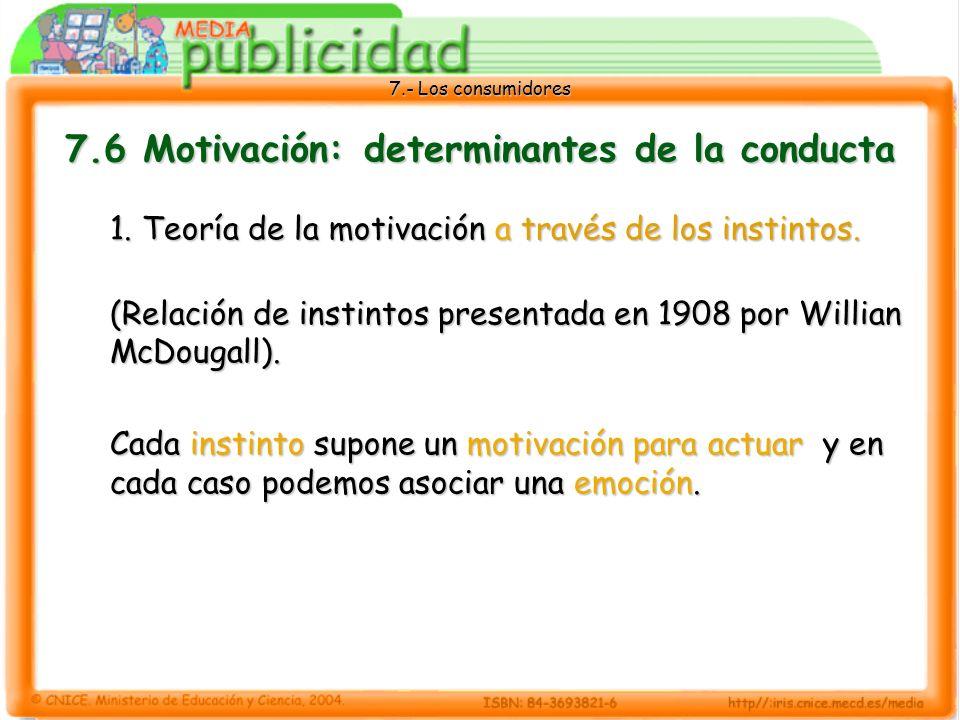 7.6 Motivación: determinantes de la conducta