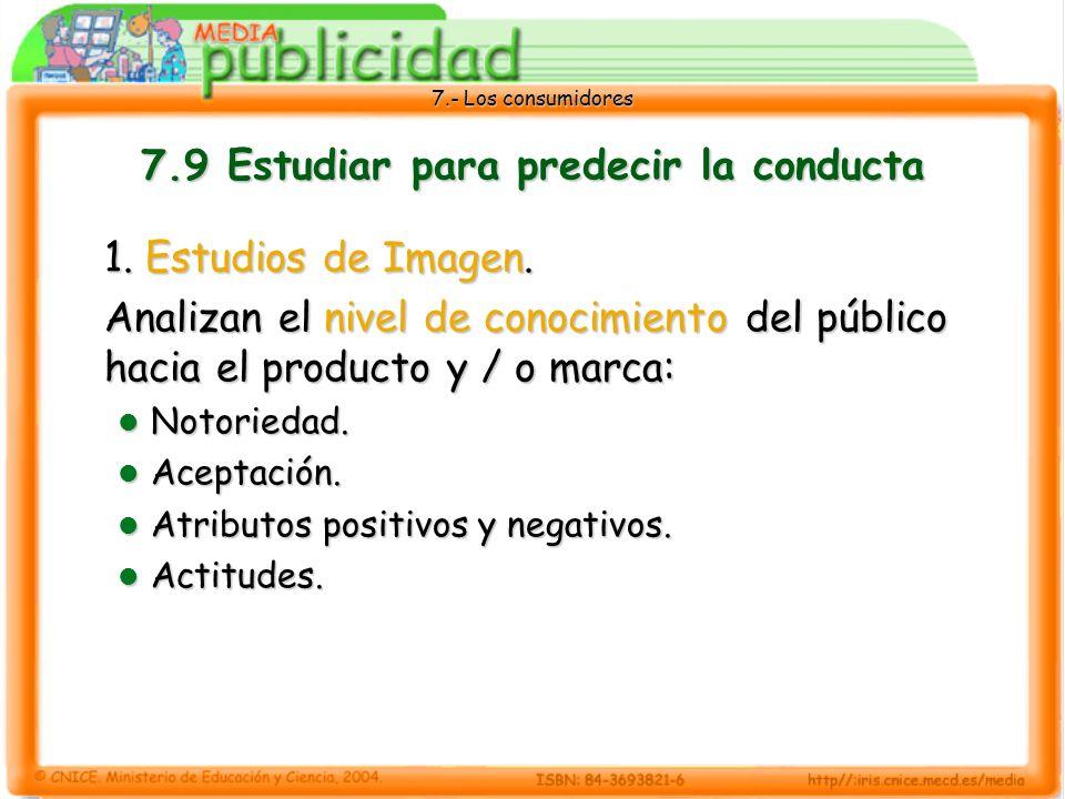 7.9 Estudiar para predecir la conducta