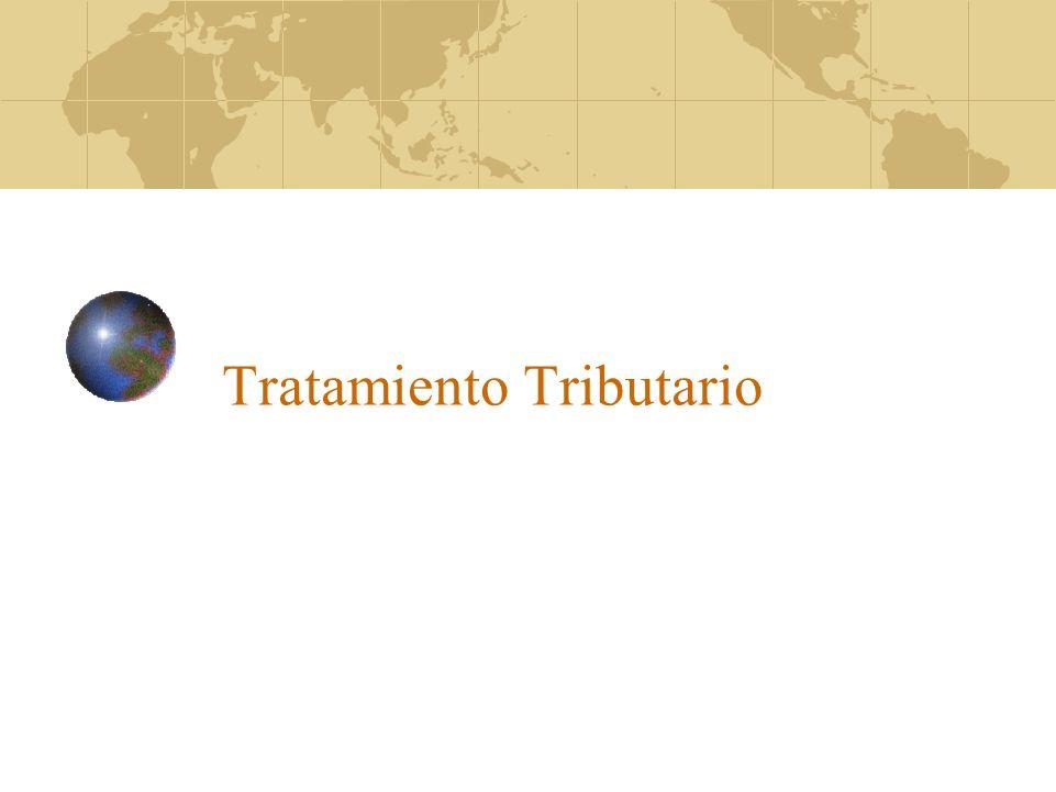 Tratamiento Tributario
