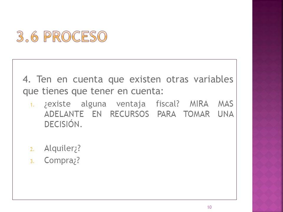 3.6 proceso 4. Ten en cuenta que existen otras variables que tienes que tener en cuenta: