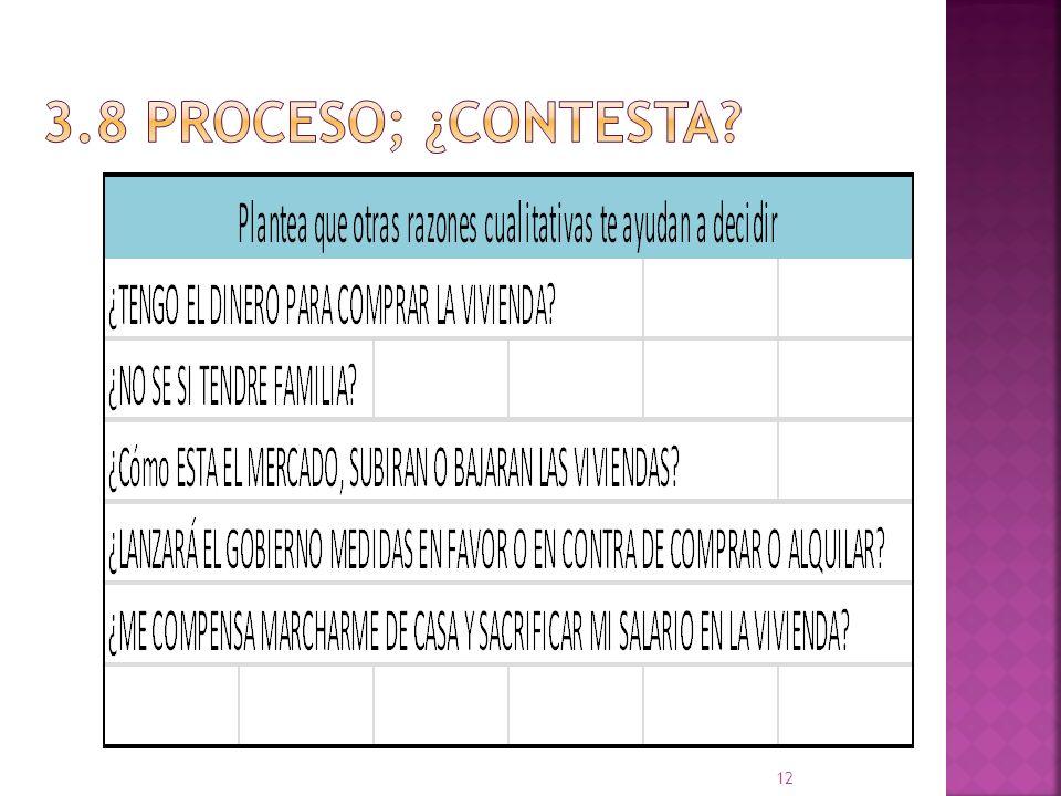 3.8 proceso; ¿CONTESTA
