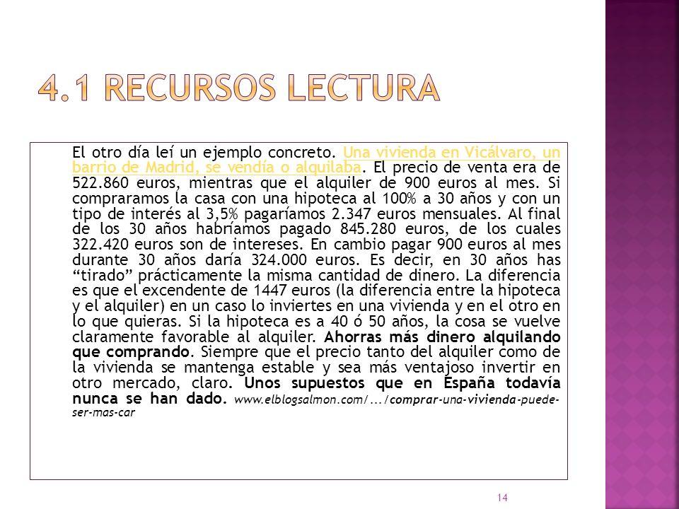 4.1 Recursos LECTURA