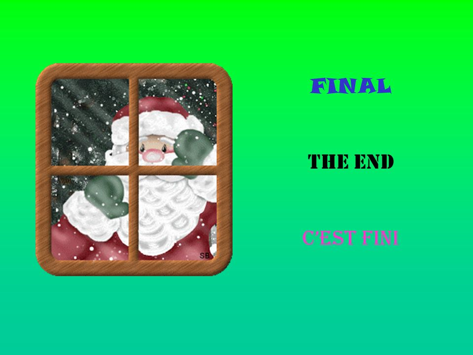 FINAL THE END C'EST FINI