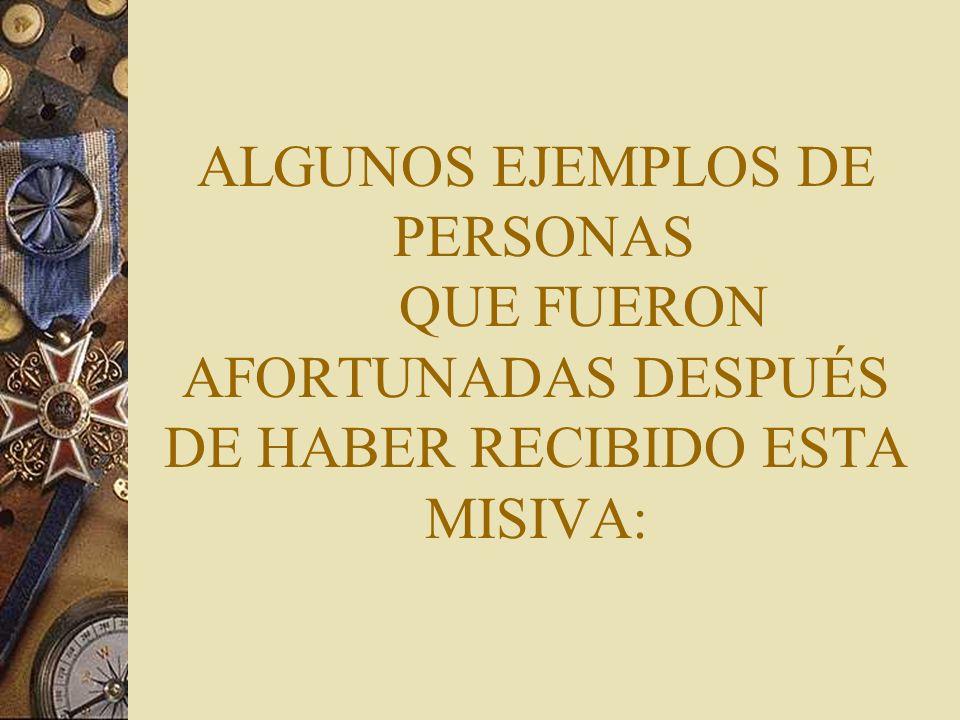 ALGUNOS EJEMPLOS DE PERSONAS