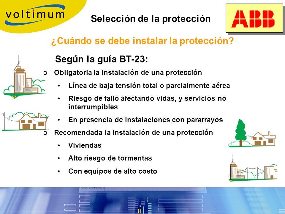 ¿Cuándo se debe instalar la protección