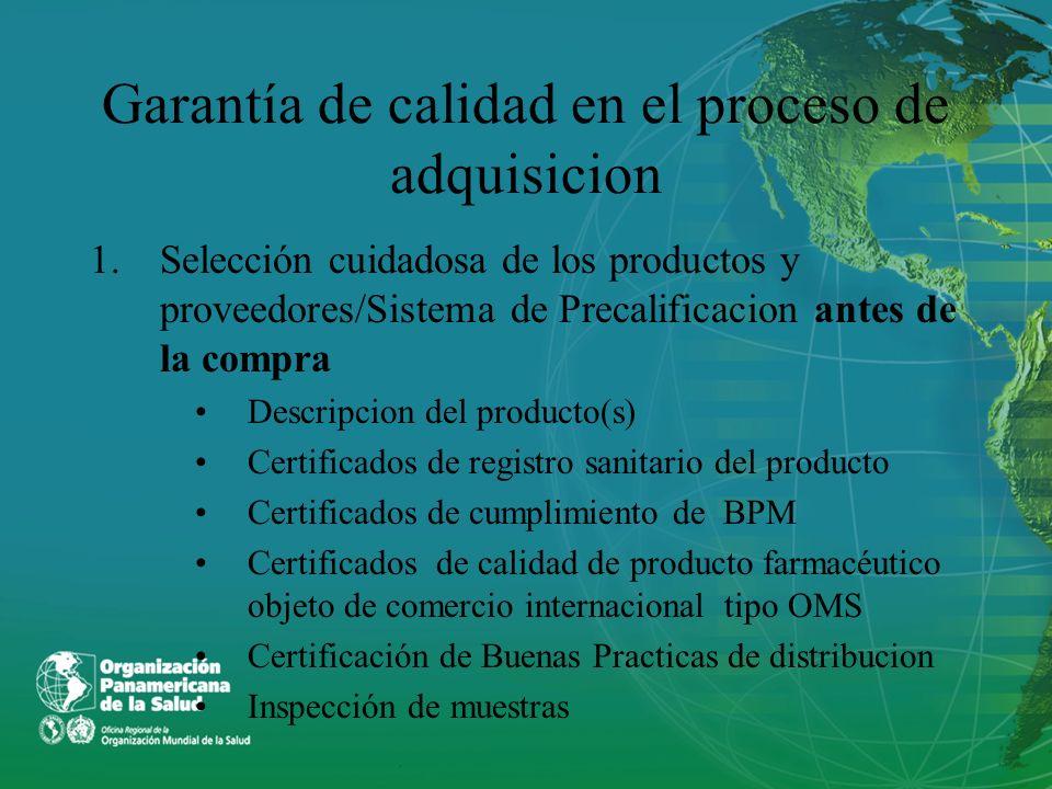 Garantía de calidad en el proceso de adquisicion