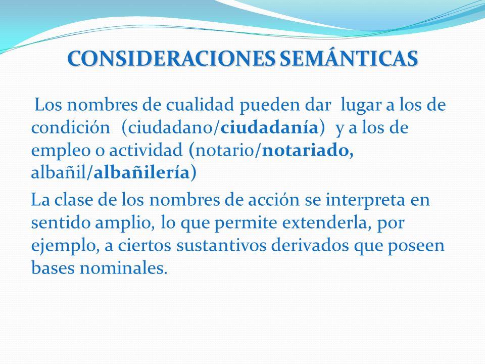 CONSIDERACIONES SEMÁNTICAS