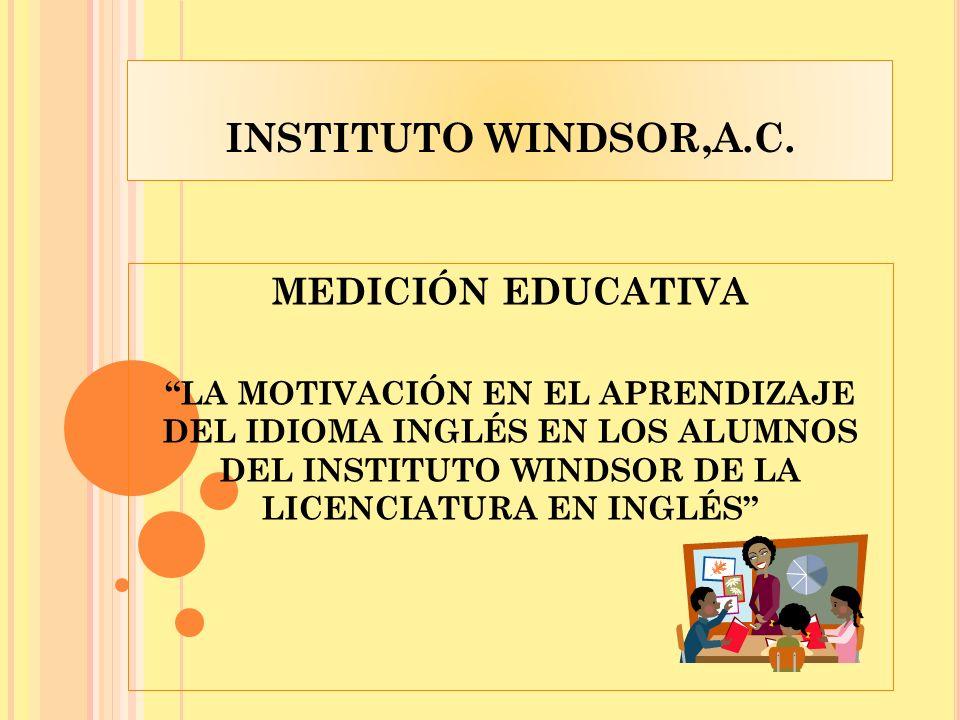 INSTITUTO WINDSOR,A.C. MEDICIÓN EDUCATIVA