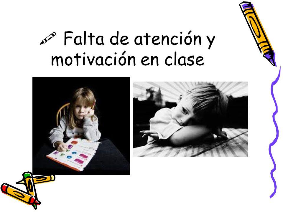 $ Falta de atención y motivación en clase