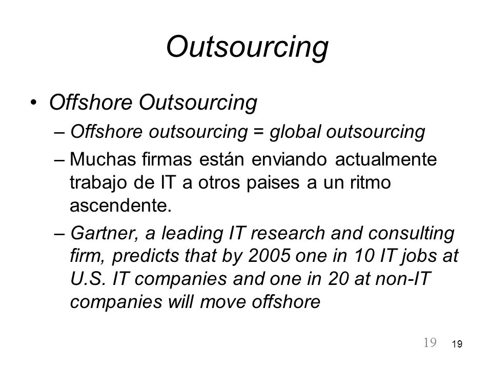 Outsourcing Offshore Outsourcing