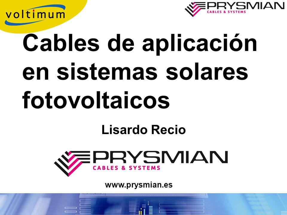 Cables de aplicación en sistemas solares fotovoltaicos