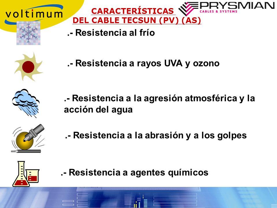 .- Resistencia a rayos UVA y ozono