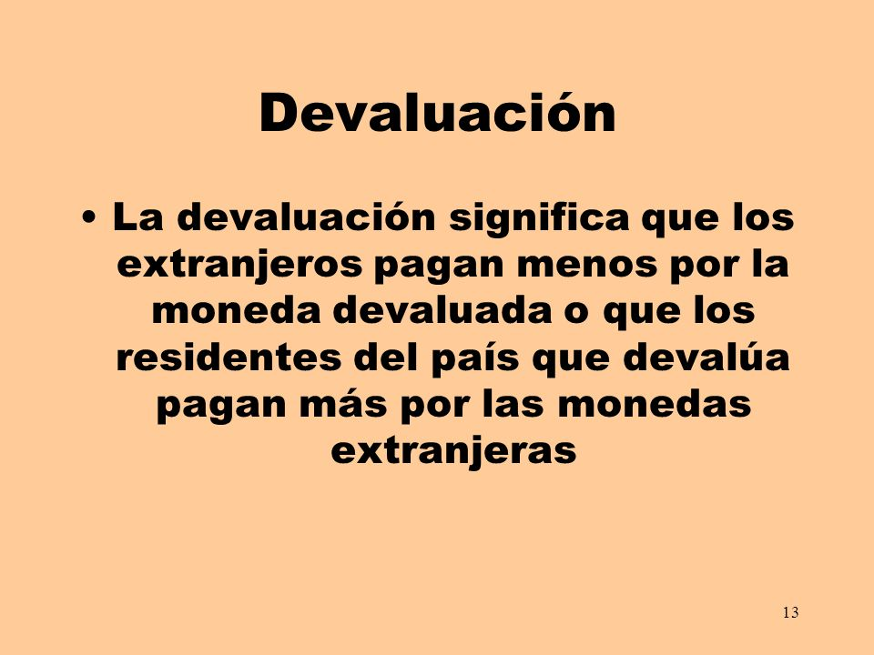 Devaluación