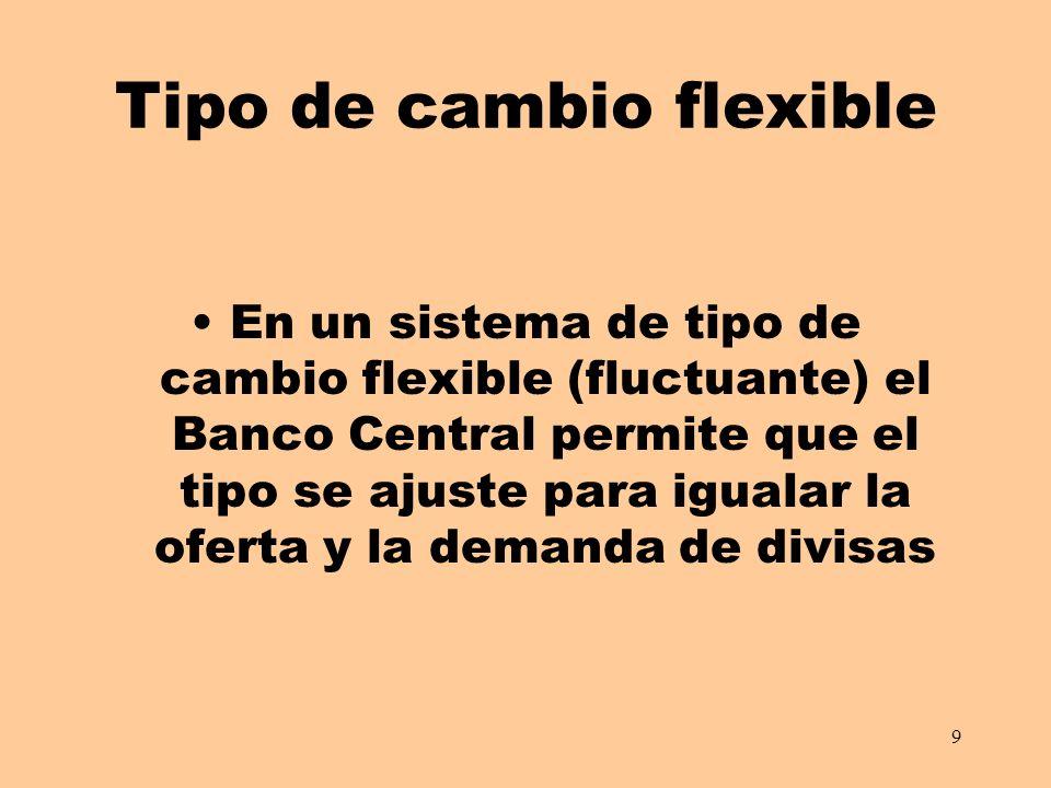Tipo de cambio flexible