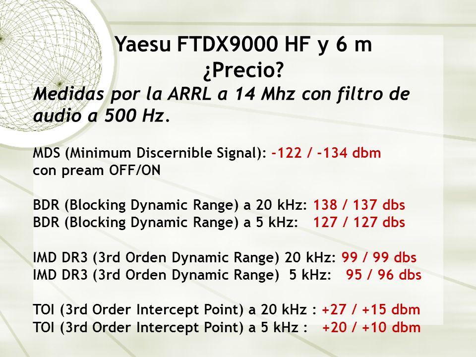 Yaesu FTDX9000 HF y 6 m ¿Precio