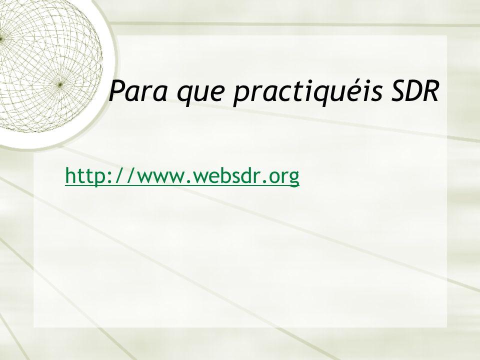 Para que practiquéis SDR