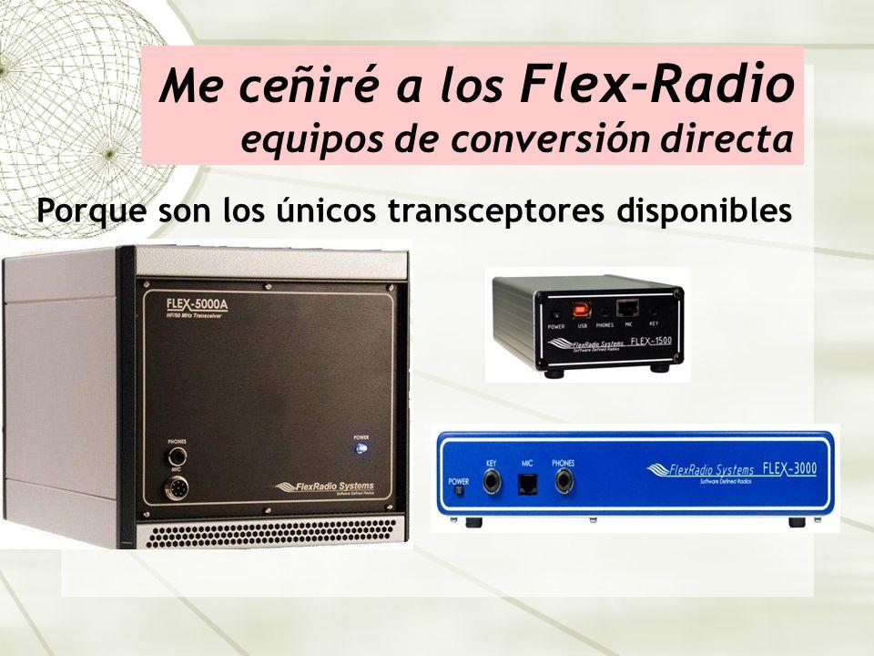 Me ceñiré a los Flex-Radio