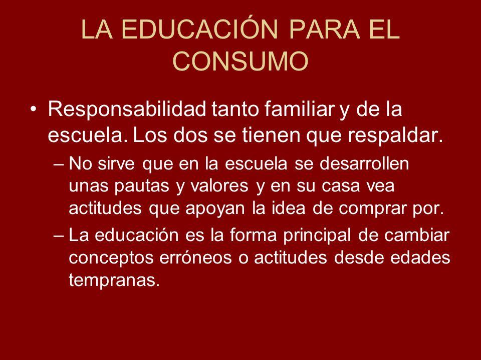 LA EDUCACIÓN PARA EL CONSUMO