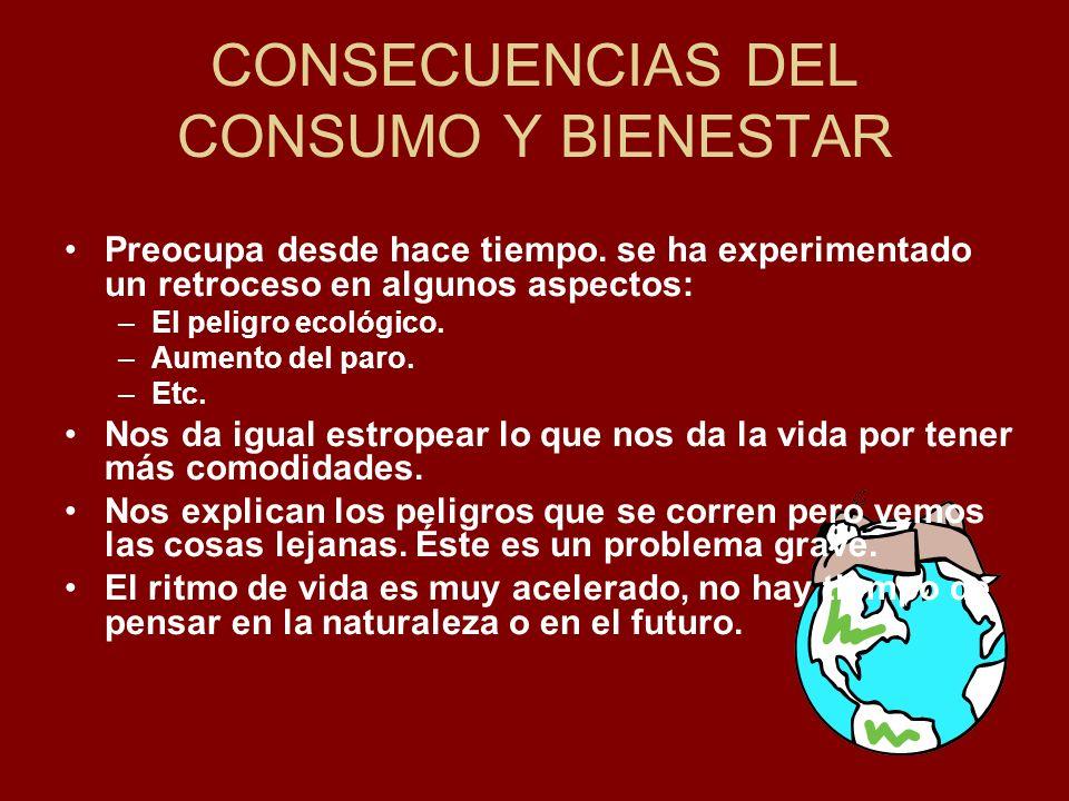 CONSECUENCIAS DEL CONSUMO Y BIENESTAR