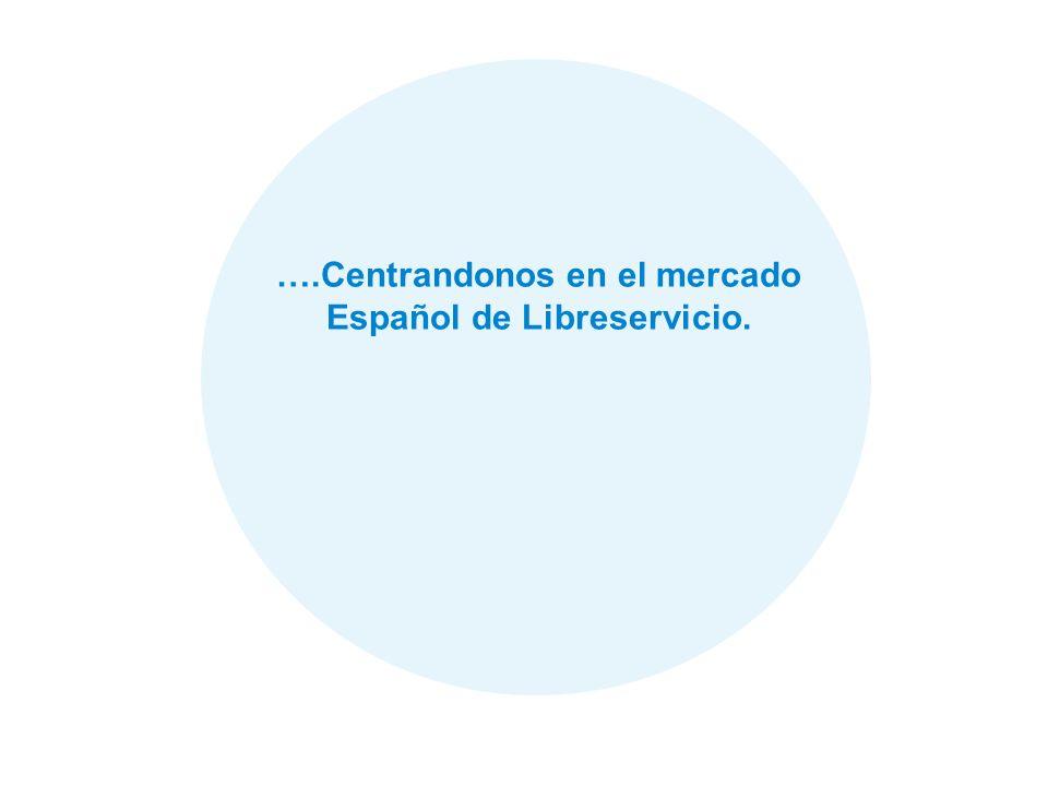 ….Centrandonos en el mercado Español de Libreservicio.