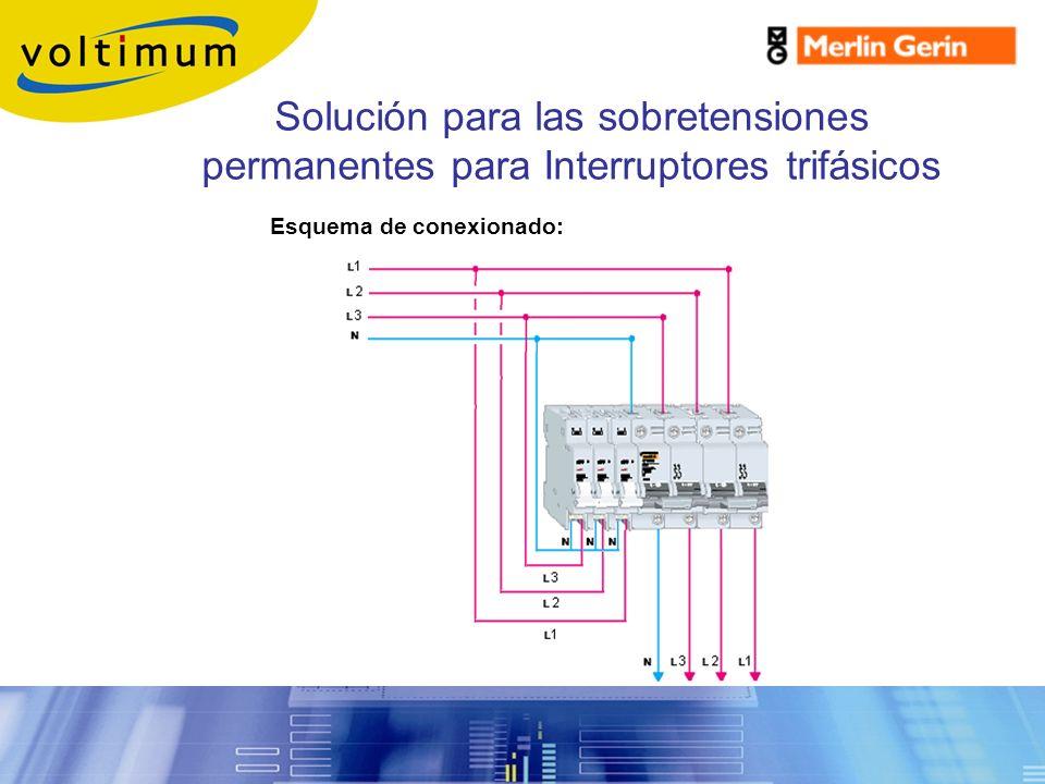 Sobretensiones Permanentes. Solución para las sobretensiones permanentes para Interruptores trifásicos.