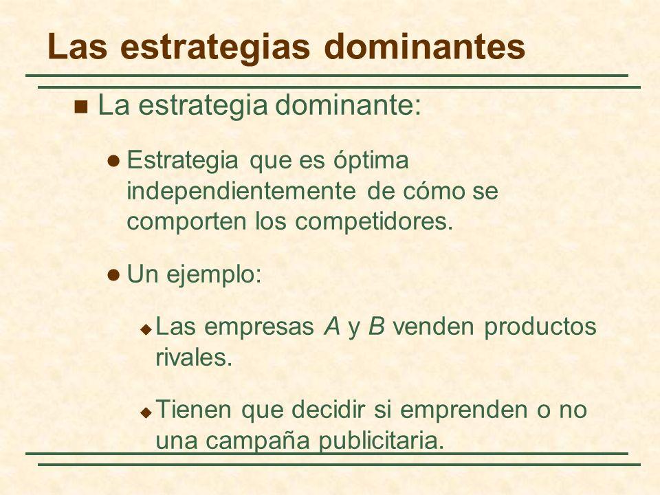 Las estrategias dominantes