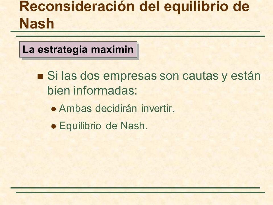 Reconsideración del equilibrio de Nash